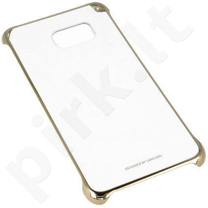 Samsung Galaxy S6 EDGE+ skaidrus dėklas QG928CFE auksinis