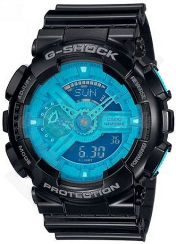 Laikrodis CASIO G-SHOCK GA-110B-1A2DR HYPERCOLOR Shock & Magnetic resistant Dual Time World time 29 zon 4 daily s Snooze Hourly Time Signal Countdown Timer Full auto-calendar WR 200mt **ORIGI