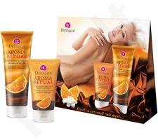 Dermacol Aroma Ritual Belgian Chocolate 7981 rinkinys moterims, (150ml AR Harmonizing kūno pilingas + 250ml AR Harmonizing dušo želė)