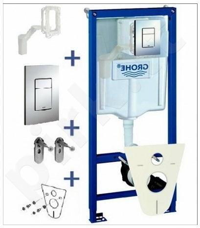 Akcija! Komplektas Grohe WC rėmas+Cosmo+sieniniai tvirtinimai+tarpiklis+Grohefresh (5in1)