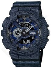 Laikrodis CASIO G-SHOCK GA-110DC-1ADR DENIM MODEL Shock & Magnetic resistant Reverse LCD Display Dual Time Auto led World time 29 zon 4 daily s Snooze Hourly Time Signal Countdown Timer Full