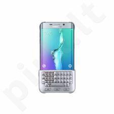 Samsung Galaxy S6 EDGE+ klaviatūra dėklas CG928BSE sidabrinis
