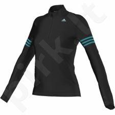 Marškinėliai bėgimui  Adidas Response Halfzip Tee W AI8283