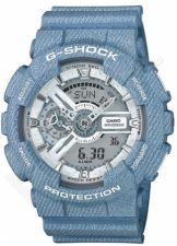 Laikrodis CASIO G-SHOCK GA-110DC-2A7DR DENIM MODEL Shock & Magnetic resistant Reverse LCD Display Dual Time Auto led World time 29 zon 4 daily s Snooze Hourly Time Signal Countdown Timer Full