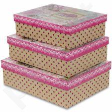 Dekoratyvinės dėžutės, 3 vnt. 104071