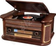 Retro stiliaus muzikinė sistema su patefonu Roadstar HIF-1896TUMPK