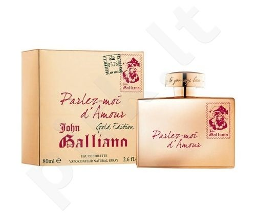 John Galliano Parlez-Moi d`Amour Gold Edition, tualetinis vanduo (EDT) moterims, 80 ml