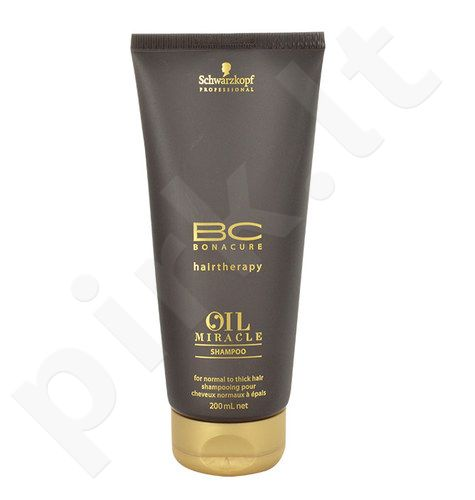 Schwarzkopf BC Bonacure Oil Miracle šampūnas Thick Hair, kosmetika moterims, 200ml