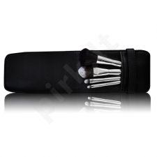 Gabriella Salvete Travel Set Of Brushes, TOOLS, rinkinys šepetėlis moterims, (kompaktinė pudra Brush 1 pc + skaistalai Brush 1 pc + akių šešėliai Brush 1 pc + lūpdažis Brush 1 pc+ Case)