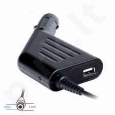 Digitalbox automob. mait. šaltinis 19V/4.74A, 90W kišt 5.5x2.5mm ToshibaAcer|USB