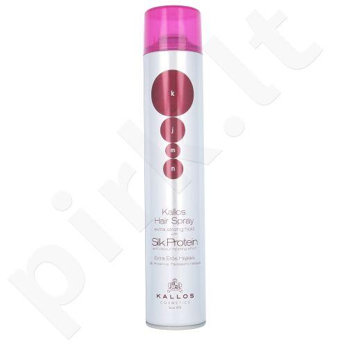 Kallos KJMN Šilko proteinais Plaukų purškiklis Labai Stiprus, kosmetika moterims, 750ml