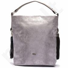 Rankinė moteriška shopper bag FELICE silver