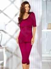 Pižama KATI (rubino spalvos)