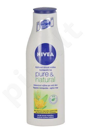 Nivea Pure & Natural kūno pienelis, kosmetika moterims, 250ml