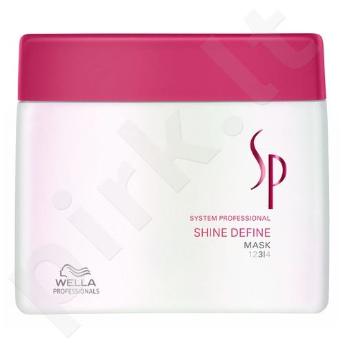 Wella SP Shine Define kaukė, 400ml, kosmetika moterims