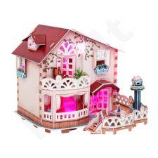 """3D dėlionė: lėlių namas """"Atostogų vasarnamis"""" (su LED apšvietimu)"""