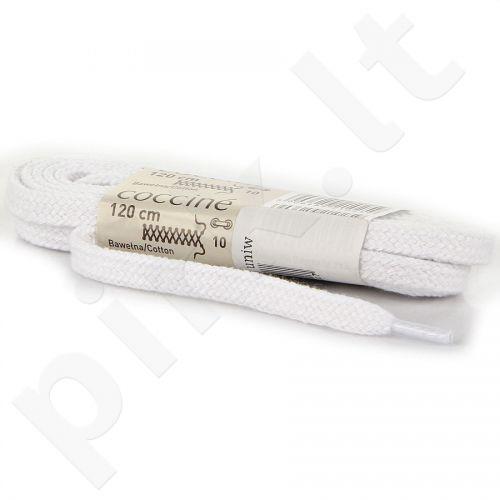 COCCINE balti batraiščiai medvilniniai 120 cm