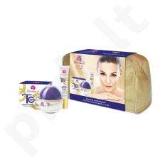 Dermacol Time Coat intensyvus veido priežiūros rinkinys moterims, (50ml Time Coat intensyvus dieninis kremas SPF20 + 15ml Time Coat intyensyvus akių&lūpų kremas + krepšys)