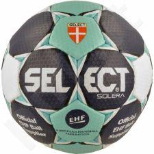 Rankinio kamuolys Select Solera 2 biało-tamsiai mėlyna-žalio atspalvio