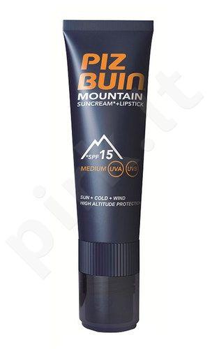 Piz Buin Mountain Sunkremas And lūpdažis SPF15, kosmetika moterims, 22,3ml