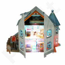 """3D dėlionė: lėlių namas """"Rural Villa"""" (su LED apšvietimu)"""