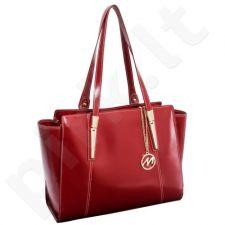 Rankinė odinė moteriška, raudona Mcklein Aldora 97506