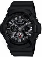Laikrodis CASIO G-SHOCK GA-201-1ADR G-CLASSIC Shock & Magnetic resistant Black IP aluminum bezel Auto led World time 29 zon 4 daily s Snooze Hourly Time Signal Countdown Timer Full auto-cale