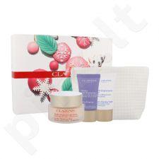 Clarins Extra veido stangrinimo rinkinys moterims, (dieninis veido kremas 50 ml + naktinis 15 ml + veido kaukė 15 ml + kosmetikos krepšys)