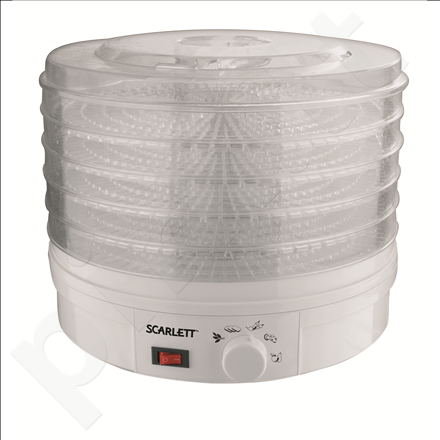 Scarlett SC-420R Food dehydrator, 250W, For fruit, vegetables, mushrooms, herbs, berries, Temperature control