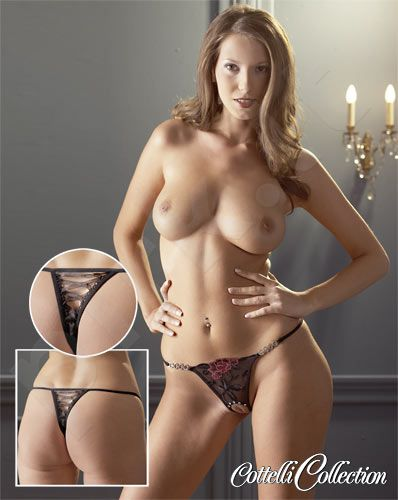 "String ""Rose"" crotchless (S/M, M/L)"