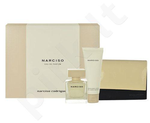 Narciso Rodriguez Narciso rinkinys moterims, (EDP 50ml + 75ml kūno losjonas + kosmetikos krepšys)
