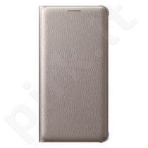 Samsung Galaxy A5 2016 atverčiamas dėklas piniginė WA510PFE auksinis