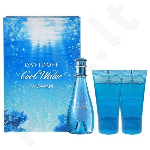 Davidoff Cool Water, rinkinys tualetinis vanduo moterims, (EDT 30ml + 50ml dušo želė + 50ml kūno losjonas)