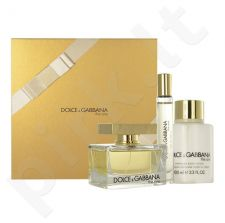 Dolce & Gabbana The One rinkinys moterims, (EDP 75ml + 100ml kūno losjonas + EDT 7,4ml)