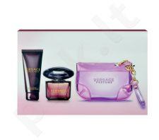 Versace Crystal Noir rinkinys moterims, (EDP 90ml + 100ml kūno pienelis+ krepšys)
