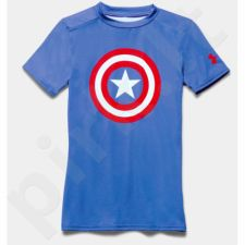Marškinėliai kompresiniai Under Armour Compression Alter Ego Captain America Junior 1244392-402