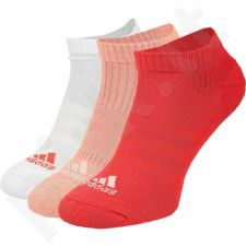 Kojinės Adidas 3 Stripes Performance No-Show Half Cushioned 3 poros W S99909