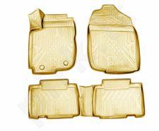 Guminiai kilimėliai 3D TOYOTA RAV4 2013-2015, 2015->, 4 pcs. /L62014B /beige