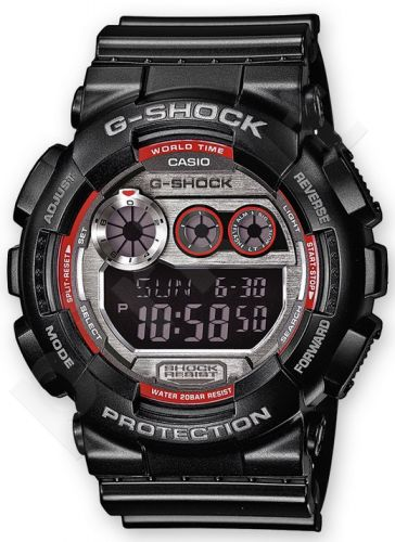 Laikrodis CASIO G-SHOCK GD-120TS-1ER G-CLASSIC Shock & Magnetic resistant Resin Case & Strap Auto led World time 29 zon 4 daily s Snooze Hourly Time Signal Countdown Timer Full auto-calendar