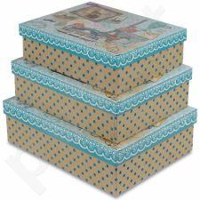 Dekoratyvinės dėžutės, 3 vnt. 104070