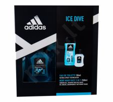 Adidas Ice Dive, rinkinys tualetinis vanduo vyrams, (EDT 50 ml + dušo želė 250 ml)