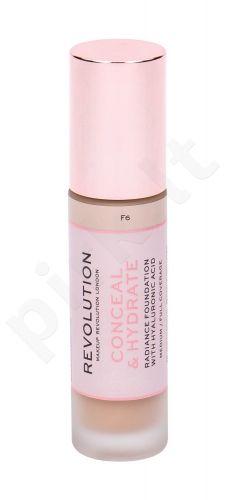 Makeup Revolution London Conceal & Hydrate, makiažo pagrindas moterims, 23ml, (F6)