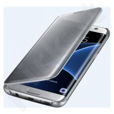 Samsung Galaxy S7 Edge skaidrus atverčiamas dėklas ZG935CBE juodas