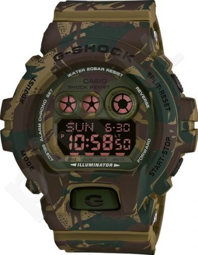Laikrodis CASIO G-SHOCK GD-X6900MC3DR CAMO GREEN FOREST Shock & Magnetic resistant Resin Case & Strap Super Illuminator World time 29 zon 3 daily s Snooze Hourly Time Signal Countdown Timer F