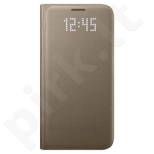 Samsung Galaxy S7 Led View dėklas auksinis
