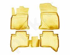Guminiai kilimėliai 3D TOYOTA Hilux 2015->, 4 pcs. /L62049B /beige