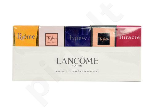 Lancome Mini Set rinkinys moterims, (5ml EDP Hypnose + 5ml EDP Miracle + 4ml EDP Poeme + 7,5ml EDP Tresor + 5ml EDP Tresor in Love)