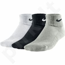 Kojinės Nike Cotton Cushion Quarter 3 poros Junior SX4722-967