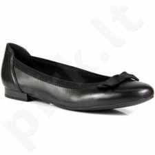 MARCO TOZZI 22117-26 odinės juodos balerinos