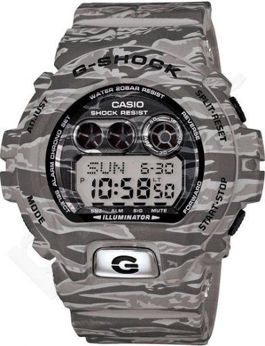 Laikrodis CASIO G-SHOCK GD-X6900TC8DR ARMY CAMO KHAKI GRAY Shock & Magnetic resistant Resin Case & Strap Super Illuminator World time 29 zon 3 daily s Snooze Hourly Time Signal Countdown Time